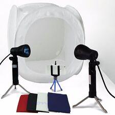 "24"" Photo Studio Photography Light Tent Backdrop Kit Lighting in a Box 60cm Cube"