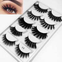 5 Pairs SK Mixed Cross Long 3D Mink Hair False Eyelashes Flutter Wispy-Lashes~-