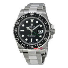 Rolex GMT Master II Black Index Dial Oyster Bracelet Steel Mens Watch 116710BKSO