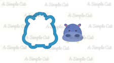 Hippo Head with Hair Cookie Cutter