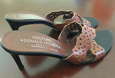 "Authentic Couture DONALD PLINER Leather Sandal 3"" Heels, Great Condition, Size 7"
