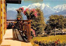 BR1121 Les Alpes Chalet Fleuri face au majestueux Massif de MOnt Blanc   france