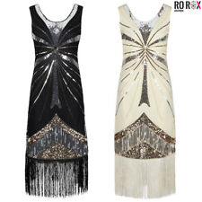 Ro Rox 1920's Great Gatsby Peaky Blinders Costume Cocktail Party Flapper Dress