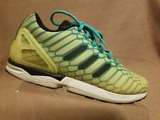 a1e351f6ecd2a Adidas AQ8212 ZX Flux XENO Reflective Glow Running Shoes Green Yellow Men  Sz 8.5