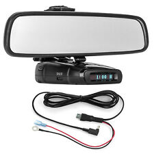 Mirror Mount Bracket + Direct Wire Power Cord for Whistler Radar Detectors