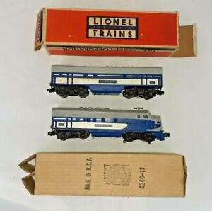 "Vintage Lionel Wabash Diesel Engine w/ ""B"" Unit  #2240 w/ Orig Boxes  AS IS"