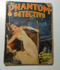 PHANTOM DETECTIVE PULP MARCH 1947 CARTEL OF CRIME  ROBERT WALLACE EXCERPTED