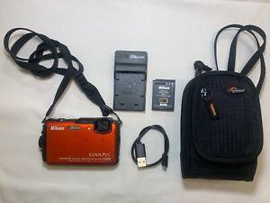 Nikon COOLPIX AW100 16.0MP Digital Camera - Orange