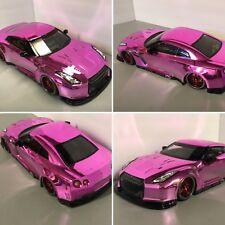 Fully Custom 1/10 Scale Remote Control On-road Drift Car Nissan R35 Gtr Pink