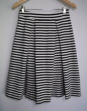 Portmans Women's White & Black Stripe Skirt - Size S