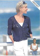 S5467 Vintage Crochet Pattern Womens waistcoat & Cardigan sizes 8 - 20 4 ply