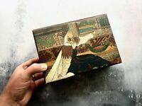 Antique Painted Wooden Box Belgian Princess Carlota of Mexico Empress