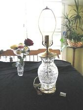 """WATERFORD """"GLANDORE"""", 3 WAY LAMP, 20 1/2"""" H, BASE TO HARNESS TOP, XLNT. COND."""