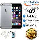 APPLE IPHONE 6 PLUS 64GB GRADO A NERO GREY RIGENERATO RICONDIZIONATO USATO