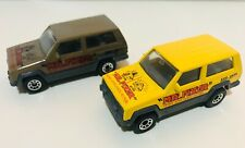 1986 Matchbox JEEP CHEROKEE Mr Fixer Home Appliance Repair Yellow/Olive Green