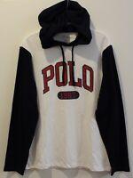 POLO RALPH LAUREN Big Tall Mens White Blue Polo 1967 Hoodie L/S T-Shirt NWT XLT