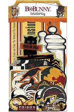 Wonderfully Wicked BoBunny Noteworthy Die Cut Cardstock 31 Piece Pack