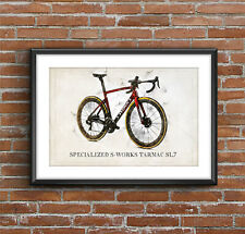 Specialized S-WORKS TARMAC SL7 (2021) - Art Sketch Poster [without frame]