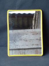 Ancien miroir, déco de salle de bain vintage, jaune vintage old french mirror
