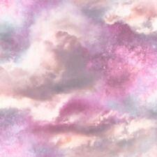 Arthouse - Diamond Galaxy Cloud Purple / Blush Luxury Glitter Wallpaper - 260009