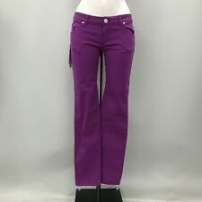New Calvin Klein Jeans Ladies Size W29 L34 Purple Low Rise Skinny 351311