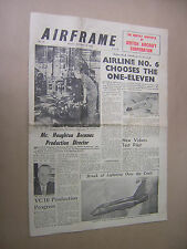 AIRFRAME.  OCT 19th 1962. MONTHLY NEWSPAPER OF BRITISH AIRCRAFT CORPORATION. BAC