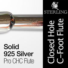 Solid 925 Silver CHC Flute • STERLING Closed Hole C Flute • 16 keys • Brand New