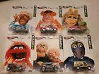 Hot Wheels Pop Culture The Muppets Kermit, Fozzie, Miss Piggy, Gonzo (SET of 6)