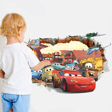 Disney Cars Lighting McQueen Mater Mural Wall Sticker Decals for Kids Child Room