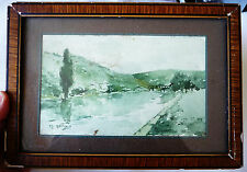 TRES BELLE AQUARELLE ANCIENNE SIGNEE  M. GILBERT / MARSEILLE