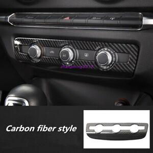 Carbon Fiber Console Center Air Condition Frame Trim For Audi A3 8V 2014-2019