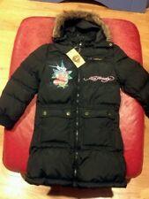Nwt ED HARDY girls coat JOANNE  BLACK 4 RARE
