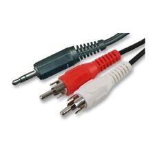 Pro 2 M stéréo 3.5 mm aux jack à 2 RCA Rouge & Blanc Phono Plugs câble audio