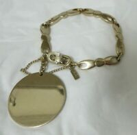 Vintage Gold Tone Monet Bracelet with Safety Chain
