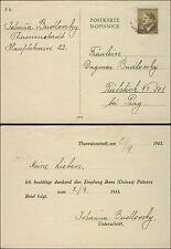 1943 Germany Theresienstadt Concentration Camp Postcard Cover Johana Budlovsky
