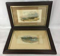 Pair Of Thomas James Soper 1817 - 1893 Antique Watercolours Rural Scenes Signed