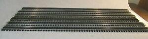 "6 O Scale Sections of Gargraves Phantom Straight Track - 37"" long"