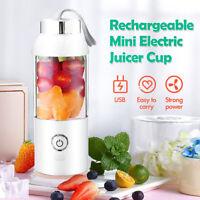 550ML Portable Electric Juicer Cup Blender Fruit Maker Shaker USB Rechargeable