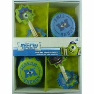 Monsters Inc / Uni Cupcake Decorating Kit makes 24 - Monsters Inc Party Supplies