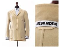 Women's JIL SANDER Blazer Coat Jacket Wool Beige Size EU 40 US 10