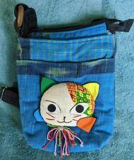 Patchwork Sling Shoulder Crossbody Bag Purse Shoulder Cat Kitty