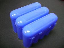 Universal Interlocking Battery Carrier Holder Case CR123A AA AAA - 3 PACK BLUE