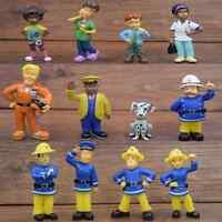 12 Pcs/lot Fireman Sam figures Elvis, Steele, Sam, Dilys, Helen, Norman, Tom