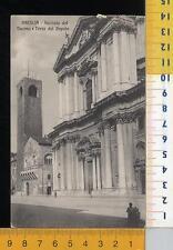 44771] BRESCIA - FACCIATA DEL DUOMO E TORRE DEL POPOLO _ 1918
