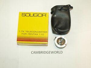 teleconverter pentax 110 A110 TELEXTENDER LENS NEW w/ case by soligor in