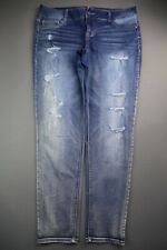 Women's Maurices Jeans Skinny Jegging Stretch Distressed Size XL-R (Msr 36x30)