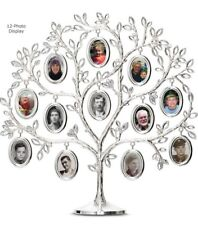 Family Tree Photo Display Frame Holder 12 photos with jewels