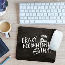Crazy Accountant Lady Mouse Mat Pad 24cm x 19cm