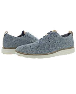 Men Cole Haan Øriginal Grand Stitchlight Wingtip Oxford Shoes Indigo C31075