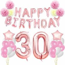 KUNGYO 30th Birthday Decorations Kit-Rose Gold Happy birthday Banner- Giant Numb